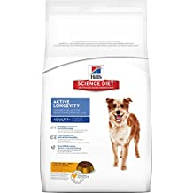 Hill's Science Diet Senior Dog Food, Adult 7+ Active Longevity Chicken Meal Rice & Barley Recipe Dry Dog Food, 33 lb Bag
