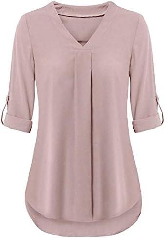Hemlock Women V Neck Blouse T Shirt Long/Short Sleeve Office Work Shirts Tees Plus Tops Tanks Pullovers Coats