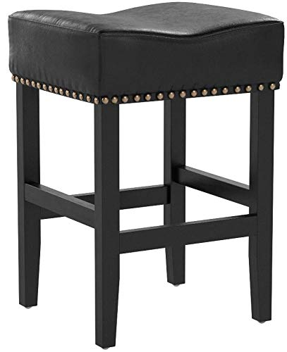 Amazing Details About Great Deal Furniture 238549 Chantal Backless Black Leather Counter Stools W Chro Ocoug Best Dining Table And Chair Ideas Images Ocougorg