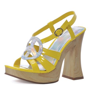 Funk Adult Costume Shoes Yellow - Size 7