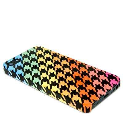 Call Candy Happy Multicolore-Pied-de-poule pour iPhone 5S