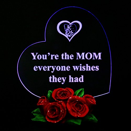 Price comparison product image Heart Shaped with Roses Mother Gifts LED Light Gifts for Mom You're the MOM everyone wishes they had