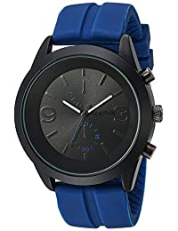 Kenneth Cole REACTION Men's 'Sport' Quartz Metal and Silicone Casual Watch, Color:Blue (Model: 10030940)