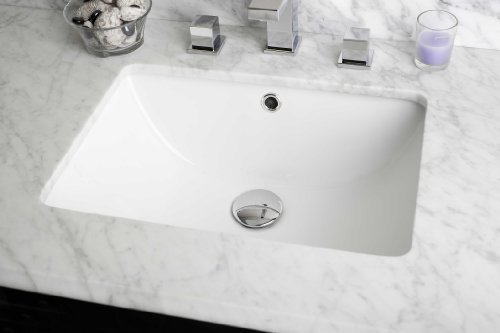 American Imaginations 18.25-in. W x 13.5-in. D Rectangle Undermount Sink In White Color by IMG Imports by IMG Imports