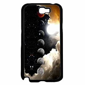 Moonlight Transitioning In Night Sky Plastic Phone Case Back Cover Samsung Galaxy Note II 2 N7100