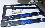 2PCS Fit Detroit Lions Team Tag License Plate Frame