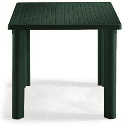 Mesa cuadrado para exterior, Mesa Resina 80 x 80, mesa para jardín desmontable Verde Bosque: Amazon.es: Hogar