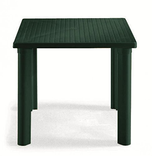 Mesa cuadrado para exterior, Mesa Resina 80 x 80, mesa para jardín ...