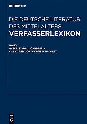 Verfasserlexikon - Die Deutsche Literatur Des Mittelalters: 11 Bände (German Edition)