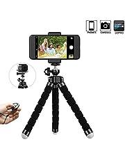 Handy Stativ Smartphone für iPhone Stativ Ständer Halter Handyhalterung mit Bluetooth Fernsteuerung Shutter Kamera und Smartphone