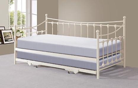 Sofá cama Memphis individual de 90 cm con cama nido, metal ...