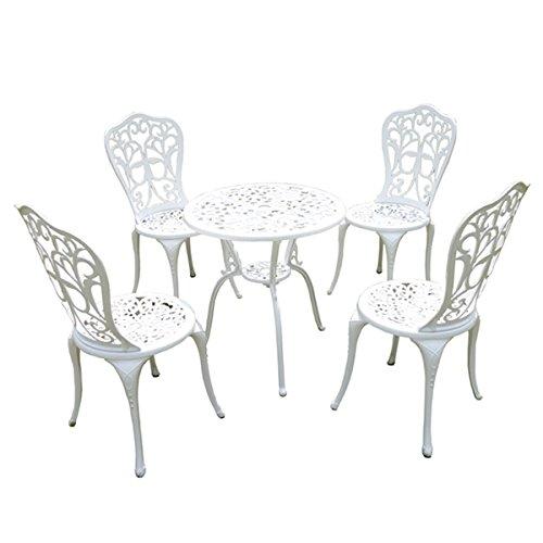 アルミ鋳物ガーデンテーブル5点セット