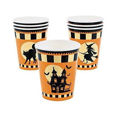 Halloween Silhouette Cups 2 sets