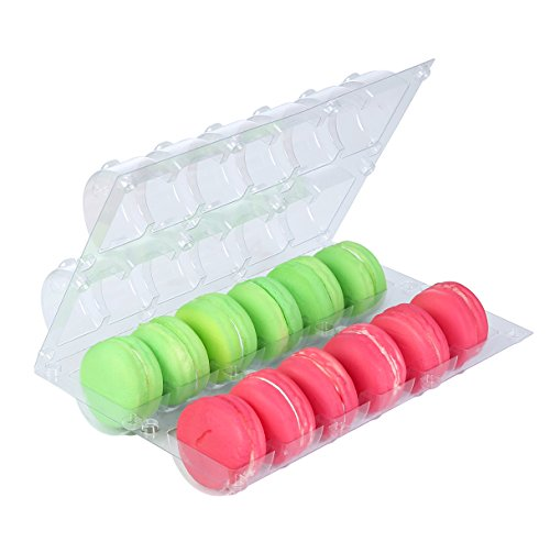 Plastic Clear Macaron Insert With Clip Closure Holds 12 Macarons (Case of 100 Sets)