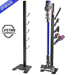 LIFETIME WARRANTYXIGOO vacuum holder stand for Dyson V11 V10, V8, V7, V6 Features: ✔Stable Metal floor stand ✔No drilling required ✔Includes mounting tools, screws and detailed installation instruction ✔Convenient storage for Dyson vacuum and accesso...