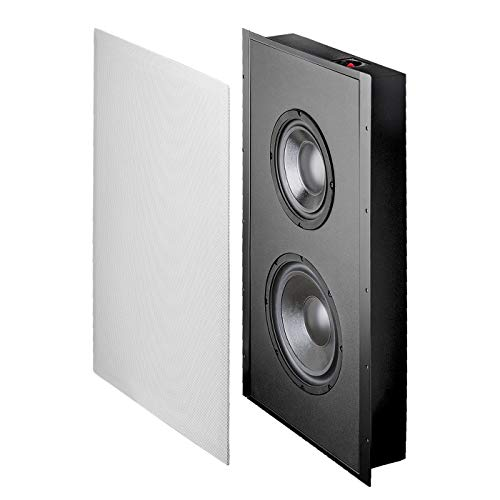 OSD Audio 300W in-Wall Trimless Home Theater Subwoofer – 8″ Woofer – SL800D…