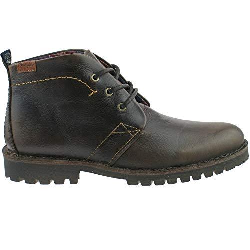 44 Boots Kyf eu Leather Desert Mens 9 5 uk Lace Up Wm142090 Wrangler Grinder Brown Dark SxEzqwAZn4
