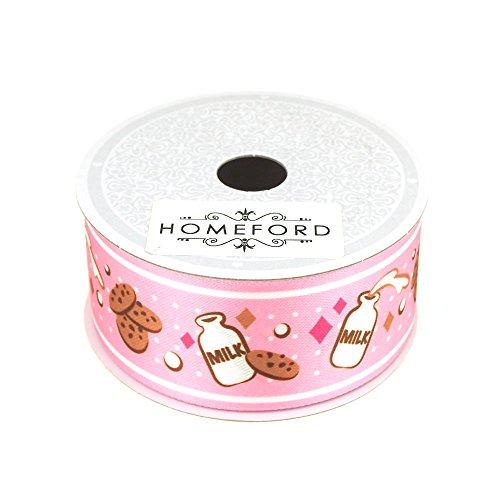 Jug Cookie (Homeford Milk Jug Cookies Print Satin Ribbon, 1-1/2-Inch, 10 Yards (Pink))