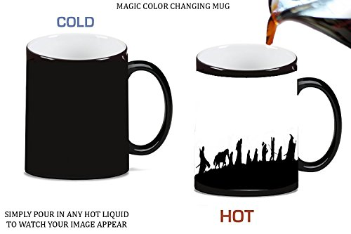 LOTR Fellowship Of The Ring Heroes Silhouette Design Print Image Magic Color Changing Ceramic Coffee Mug Tea Cup by Trendy Accessories