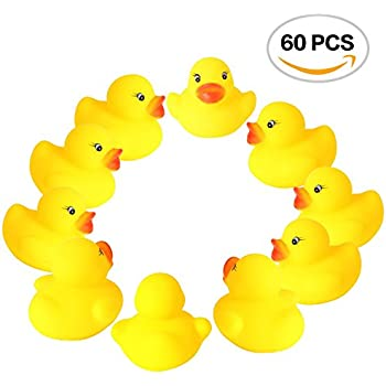 Amazon.com: MyLifeUNIT Mini Yellow Rubber Bath Ducks for Child 20pcs ...