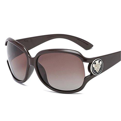 Marrón HOME De Caja Maroon Miopía UV De Moda Color Espejo Protección Polarizada De Gafas Luz Grande Conducción Sol QZ 4nfxTpp