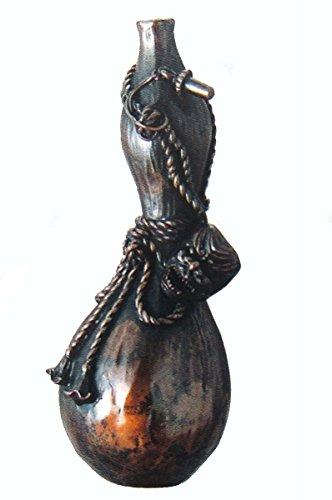 二上元威『花器瓢箪型(一輪挿)』青銅製 【オブジェ置物】【R1806】 B0749LS3X4