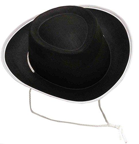 Forum Novelties Costume Accessory Child Size Cowboy Hat, Black (Gunfighter Halloween Costume)
