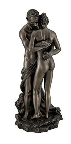Resin Statues The Lovers Bronze Finished Loving Touching Couple Nude Statue 5 X 10.75 X 4.5 Inches Bronze Model # WU76738A1 by Zeckos