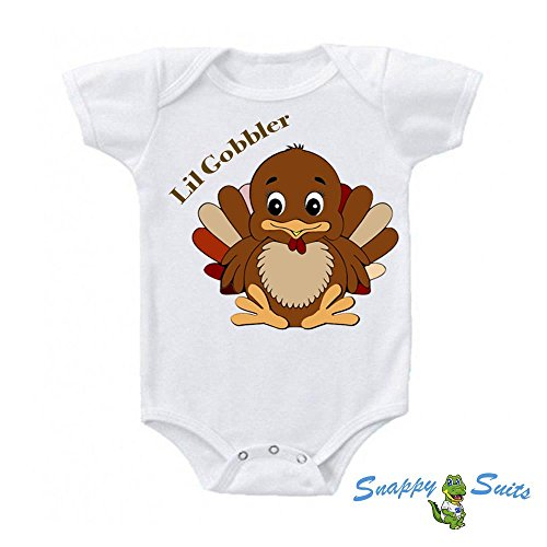 Lil Gobbler (Lil' Gobbler Babies 1st Thanksgiving Cute Baby One Piece Suit Romper By Snappy Suits (3-6 Months))