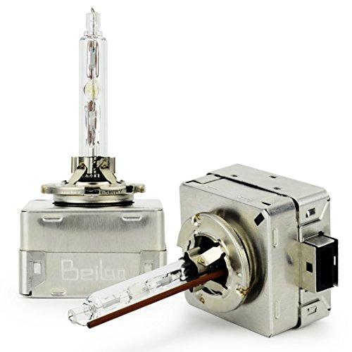 Super Bright D1S D1C HID Scheinwerfer Birnen Kit 4300K/6000K/8000K Weißes Licht für Auto VERSTECKTE Xenonbirnen VERSTECKTE Lichter Wiedereinbau Birnen 12V 35W(Satz von 2)