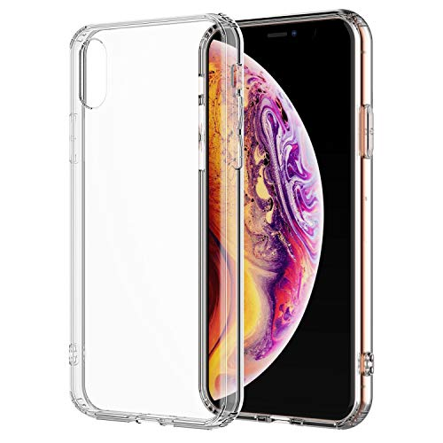 Shamos iPhone Xs Max Clear Case Crystal Shock Absorption TPU Bumpers Anti-Scratch Clear Back (Clear)