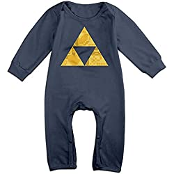 NOXIDN SMWI Baby Infant Romper Zelda Triforce Items Boys Long Sleeve Bodysuit Outfits Clothes,Navy