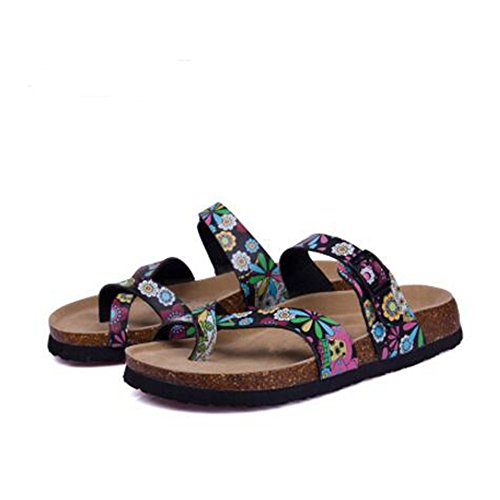 Cork Slide with Sandals 20 YaMiFan Adjustable Open Buckle Strap Women's Slippers Toe f1WRWnwq4