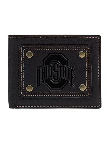 Ohio State Buckeyes Gridiron Slim Bifold Wallet Ohio Bi Fold Wallet