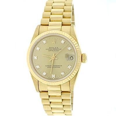 Rolex President Datejust Midsize 18K Gold Original Diamond Dial 31MM Auto 68278