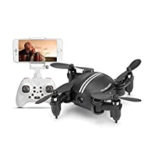 Koeoep Mini Indoor Pets Quadcopter Drone with HD Camera, Air Pressure Altitude Hold Headless Gravity Sensor Helicopter