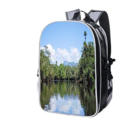 High-end Custom Laptop Backpack-Leisure Travel Backpack Navegando el ro Autana Water Resistant-Anti Theft - Durable -Ultralight- -