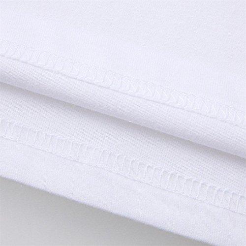 maglietta Business Uomo Corta Tees Uomo Kword Stampa A T Bianco Manica Da maglietta Basic Shirt shirt uomo UwYwHTxqZ