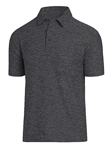 (Men Polo Shirts, Dry Fit Short Sleeve Athletic Golf Polo Shirts for Men)