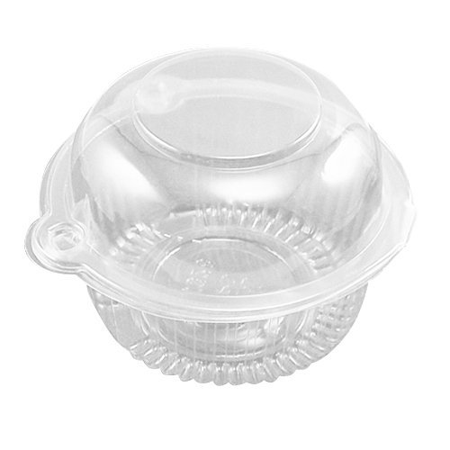 Eforcase 25/50/100/300 Pcs Plastic Single Individual Cupcake Muffin Dome Holders Cases Boxes Cups Pods (100 Pcs)]()