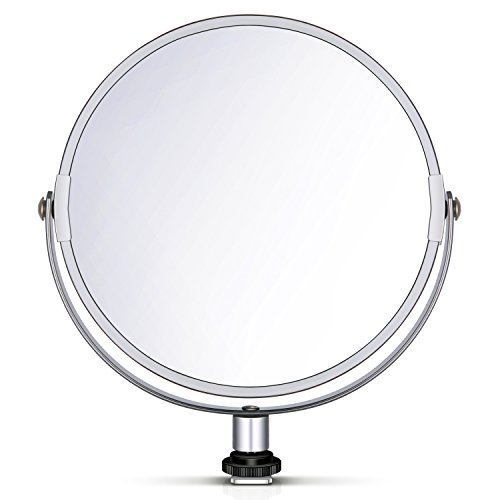 Neewer 8 inches/20 Centimeters Glass Double-Sided Selfie Magnified Circular Makeup Mirror with Adapter for 18 inches…