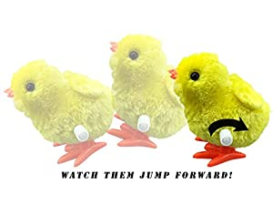 1 Dozen Wind-Up Jumping Chicken and Bunnies Party Favors (Pack of 12) from Liberty Imports