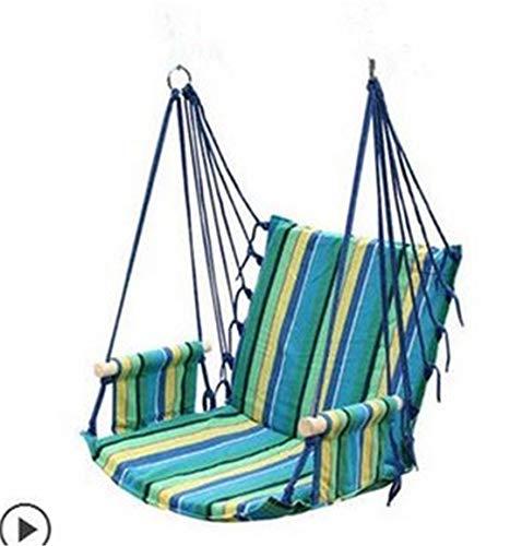 XiuanCum Hammock Outdoor Dormitory Bedroom Swing Send Tying Pouch Swinging Hanging Chair Hammock Blue ()