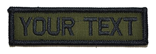 Customizable Text 1x3 Patch w/Hook Fastener Morale Patch - O
