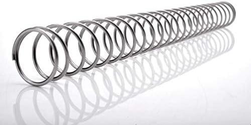 ZZB-LSTH, 1pc Edelstahl-Spiraldruckfedern, 2mm Drahtdurchmesser X (10-20) mm Out Durchmesser X 300 mm Länge (Color : 1pc, Size : 2x20x300mm)