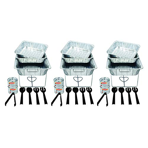 Buffet Server Set (Party Essentials 33 Piece Party Serving Kit, Includes Chafing Kits and Serving)