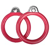 Swing Set Stuff Inc. Commercial Round Trapeze Rings with Sss Logo Sticker Playground Attachment, Pink