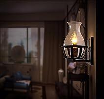 T-ZBDZ Botella de vino nostálgica de vidrio lámpara de pared ...