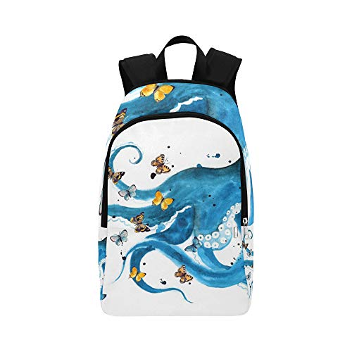 (VvxXvx Hand-Drawn Octopus and Anchors Casual Daypack Travel Bag College School Backpack for Mens and Women)