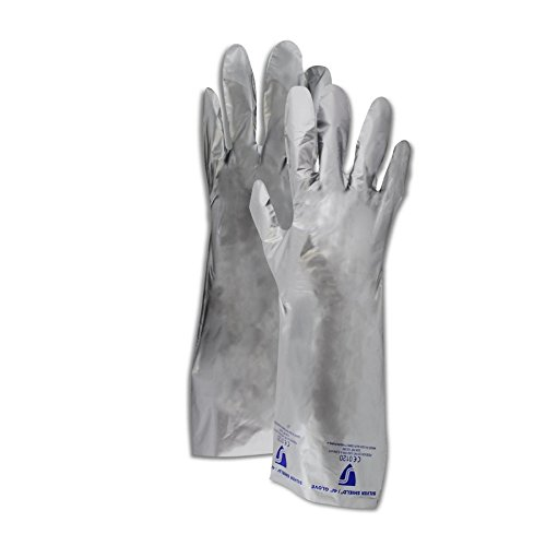 North by Honeywell SSG/8 North Silver Shield SSG Smooth Finish PE and EVOH Blend Gloves, 7, Silver, 8 (Pack of 10)